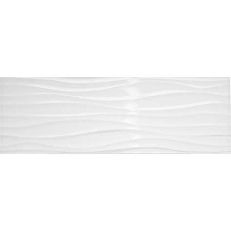 cours de cuisine a domicile faïence mur blanc brillant décor relief wave l 25 x l 75