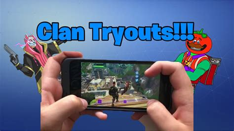 fortnite mobile clan tryout announcement resurrect