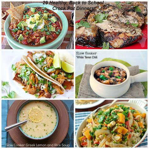 healthy crock pot meal 29 healthy back to school crock pot dinners