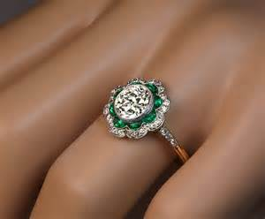 1920s engagement rings 1920s deco emerald platinum engagement ring at 1stdibs