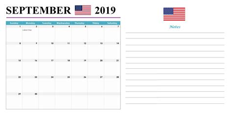 september  usa holidays calendar