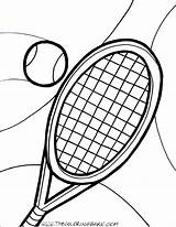 Tennis Racket Ball Coloring Pages Court Printable Drawing Template Player Clipartmag Print Getcolorings Sketch Getcoloringpages Dorable sketch template