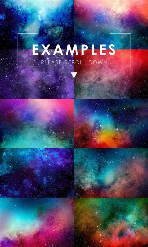 50% OFF Space Watercolor Backgrounds by ArtistMef on