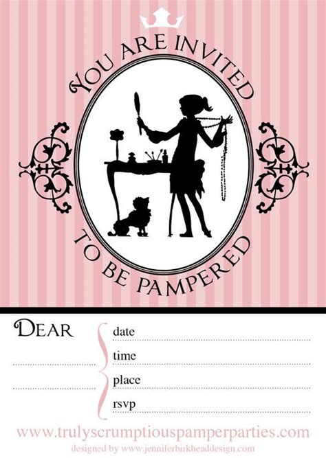 pamper party invitations  printables image search