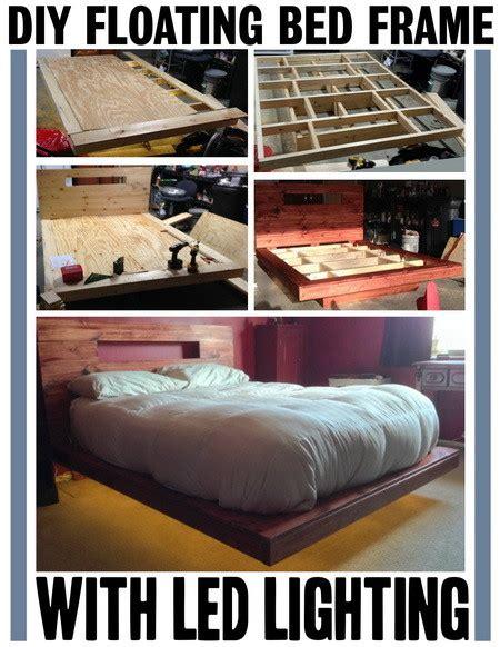 build  diy floating bed frame  led lighting removeandreplacecom