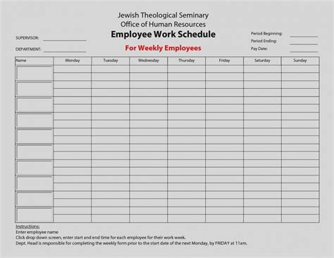 blank schedule wonderful of blank work schedule template free printable schedules weekly employee 2018 blank