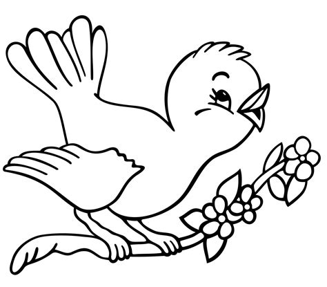 bird coloring page  coloring pages pinterest
