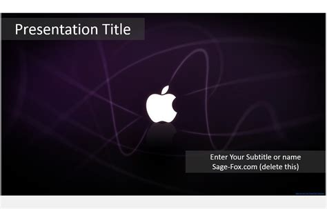Apple Inc Powerpoint Template by Free Apple Powerpoint Template 3833 Sagefox
