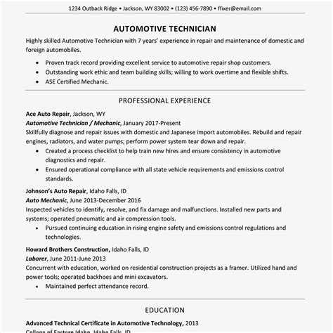 What Should Be On A Resume by Guidelines For What To Include In A Resume