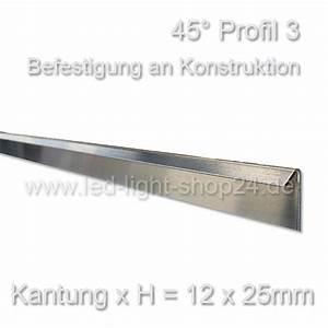Led Profil Dachschräge : led profil 45 grad f r indirekte beleuchtung trockenbau ~ Michelbontemps.com Haus und Dekorationen