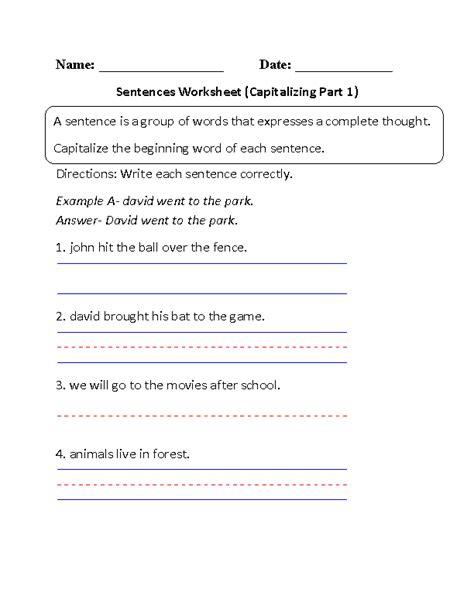 sentence structure worksheets high school sentence best