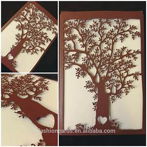 love theme customized names on papaer card laser cut With alibaba wedding invitations tree