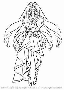Learn How To Draw Cure Scarlet From Pretty Cure Pretty Cure Step By Step Drawing Tutorials