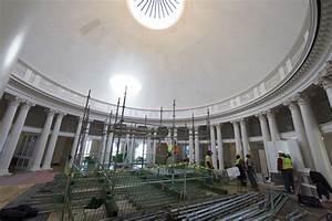 Rotunda Renovators Prepare To Remove Skylight  Make Brick