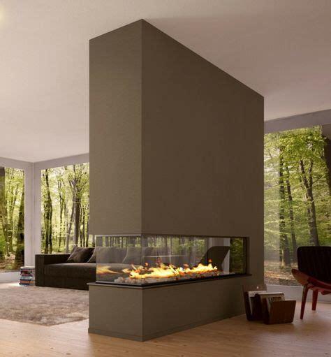 Trennwand Für Wohnzimmer by Modernes Wohnzimmer Mit Luxus Trennwand Kamin Sehr Schick