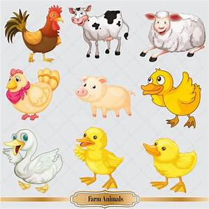 Cute Farm Animal Clipart