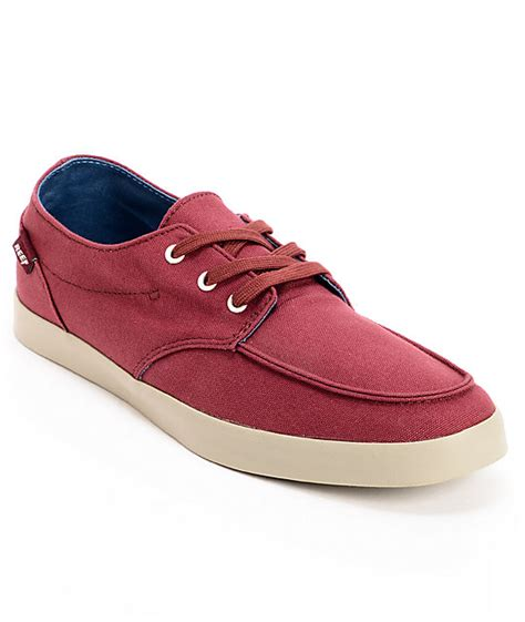 reef deckhand 2 turquoise aloha boat shoe reef deck 2 burgundy canvas boat shoes