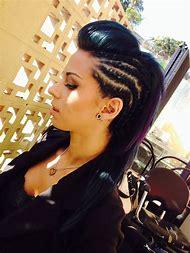 Side Mohawk Cornrows Hairstyles Braids