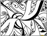 Coloring Abstract Complex Pages Printable sketch template
