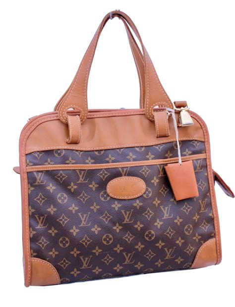 rare louis vuitton  french company carry  tote bag monogram canvas   stdibs