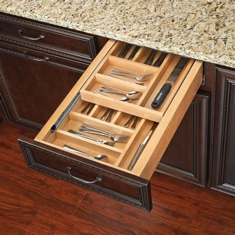 kitchen cabinet storage inserts rev a shelf tiered cutlery drawer for 18 inch 5813