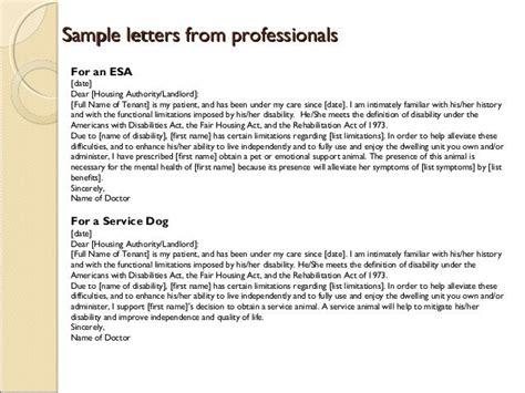 emotional support animal letter housing emotional support animal letter template esa