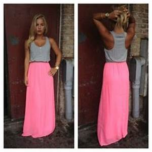 Neon Pink Jersey Maxi Dress every dress on this site is