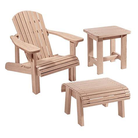 adirondack chair plans  templates  foot stoolside