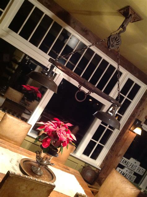 Kitchen Pulley by Rustic Yoke Pulley Light Designed By Crowsnestinc