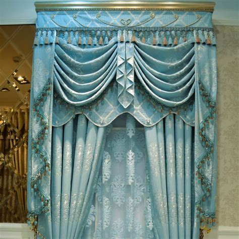 Modern Valances For Living Room by Compare Prices On Blue Window Curtains Online Shopping