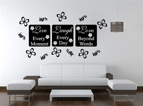 bedroom wall decor live wall sticker quote bedroom lounge kitchen ebay