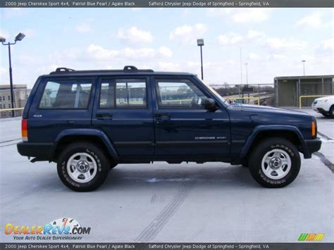 2000 jeep cherokee black 2000 jeep cherokee sport 4x4 patriot blue pearl agate