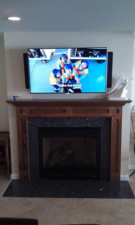 Durham Ct Mount Tv Above Fireplace Richey Group Llc