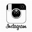 8 Black And White Instagram Icon Images - Instagram Logo ...