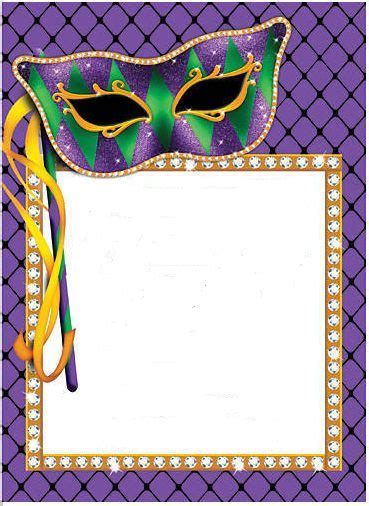 printable border cartaz de carnaval mascaras de