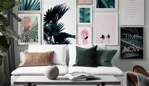 inspiration fuer schoene wohnzimmer bilderwand mit postern