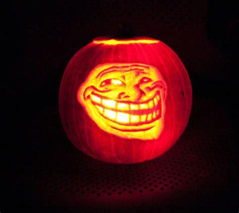 Meme Pumpkin Carving - social media web design pumpkin carvings