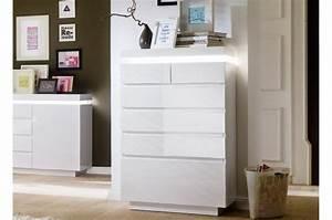 Commode Laqué Blanc : commode design laqu blanc 6 tiroirs cbc meubles ~ Teatrodelosmanantiales.com Idées de Décoration
