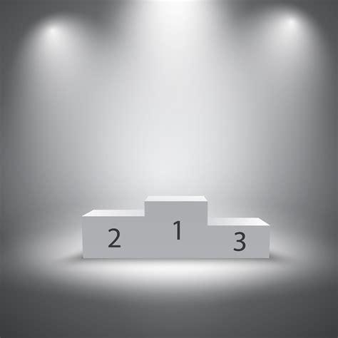 illuminated sports winners podium   vectors