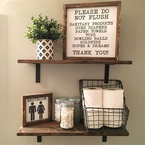 open shelves farmhouse decor fixer upper style wood