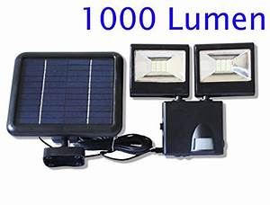 Ultra Bright  1000lumen Solar Powered Twin Dual
