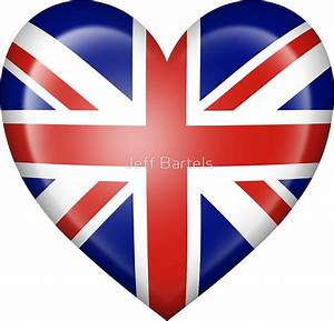 """""""Union Jack British Heart Flag"""" Stickers by Jeff Bartels"""