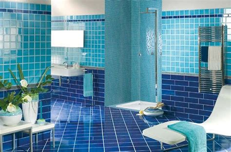 Navy Blue Bathroom Floor Tiles Ideas And Pictures