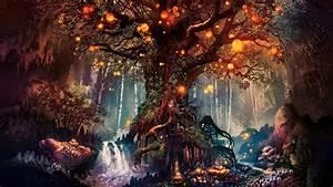 Fantasy, Art, Artwork, Fan, Art, Trees, Nature, Wallpapers, Hd