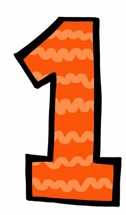 Number Clipart Clip Transparent Orange Thing Single