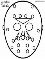 Goalie Coloring Hockey Mask Coloringway Credit Larger sketch template