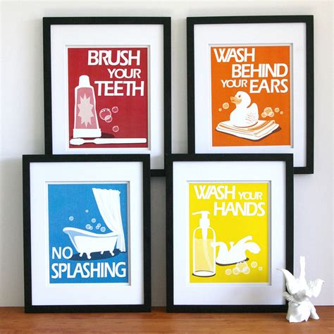 etsy bathroom wall bathroom prints by paper llamas etsy find in the