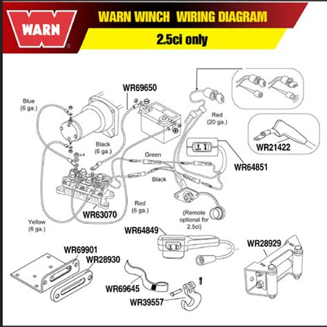 warn rt25 winch wiring diagram go big parts accessories llc gt accessories gt warn mini