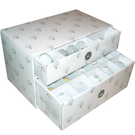 light bulb storage box in storage drawers