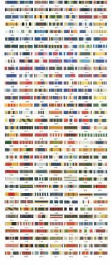 vanguard color ribbon chart vanguard